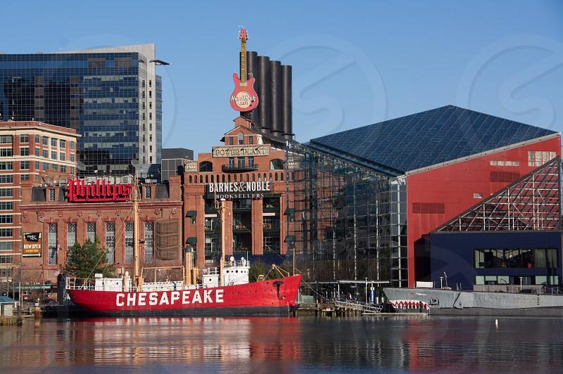 Historic ships in the Baltimore Inner Harbor.  Chesapeake photo