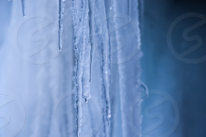 water dripping off icicles during daytime photo