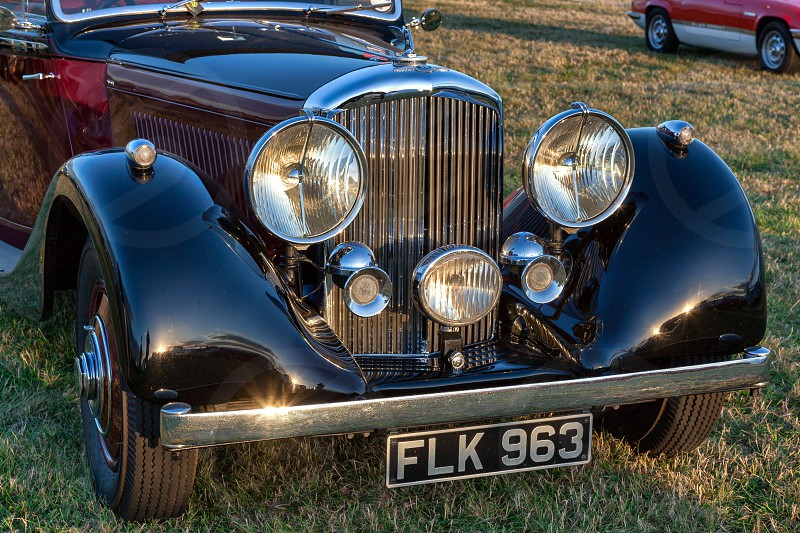 Close-up of the Front of a Vintage Bentley photo
