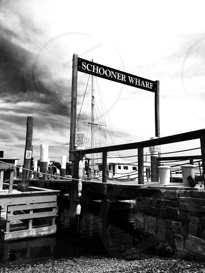 schooner wharf signage photo