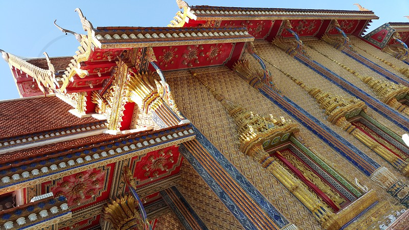 Temple Thailand glory history beautiful construction painting ceramics browser. photo