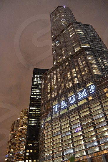 Trump At Night  photo