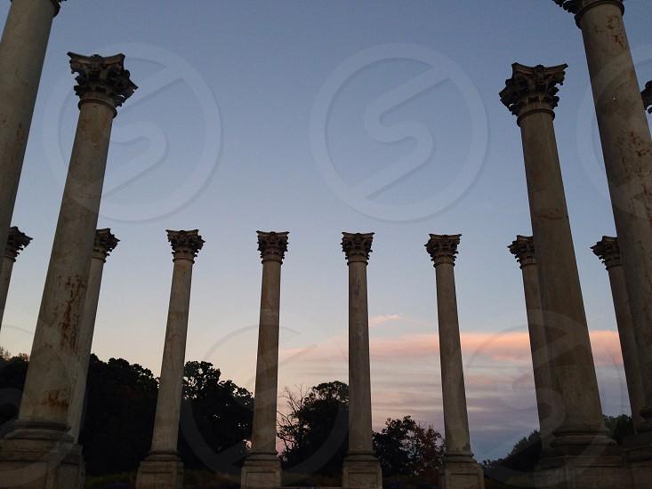 The original columns of the Capitol Building in the National Arboretum  photo