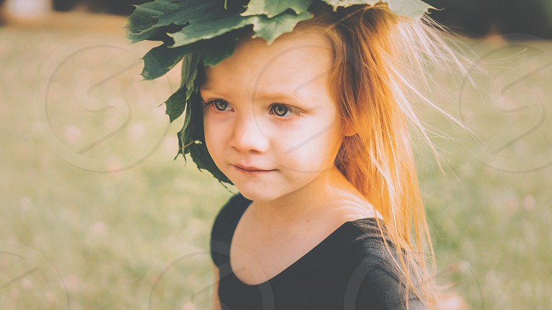 Pretty young girl; red head  photo