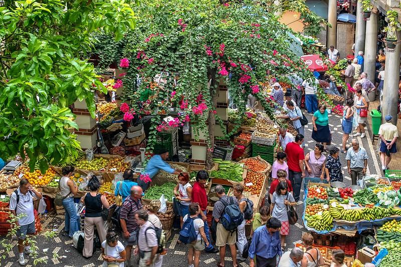 Bustling Funchal Market photo