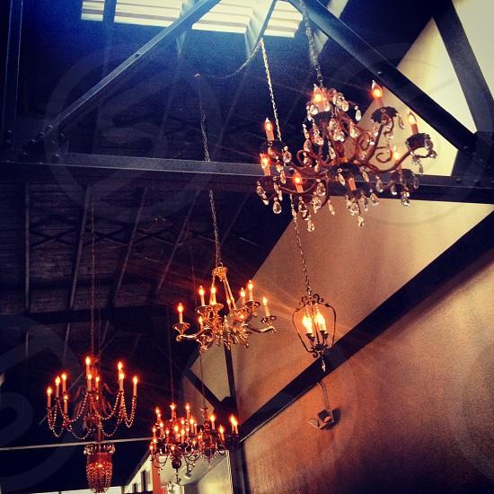 Chandelier Chandeliers Ceilings Italian Restaurant Crystal Authentic Mood photo