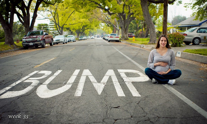 Baby bump maternity maternity conceptual humor  photo