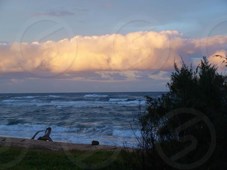Kauai Ocean Sunset photo
