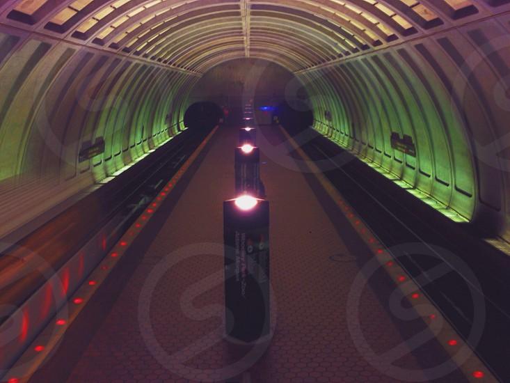 train station escalator photo