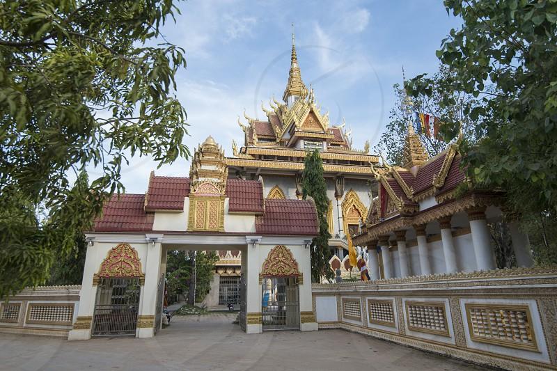 the Wat Norea Temple in the city centre of Battambang in Cambodia.  Cambodia Battambang November 2018 photo