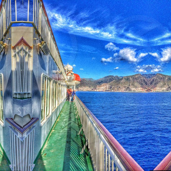 Arriving in Tenerife by ferry. The Canary Islands. photo