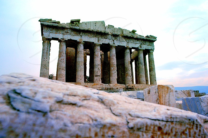 The Parthenon in Athens Greece. photo
