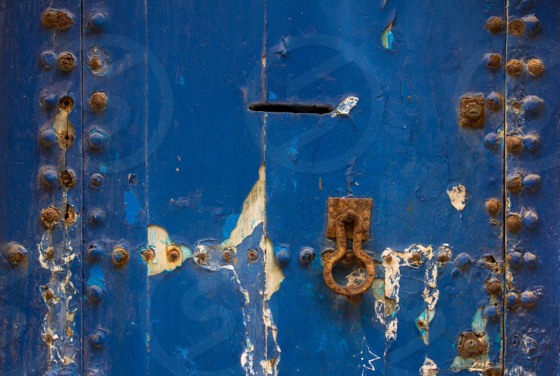 Blue door Essaouira Morocco. photo