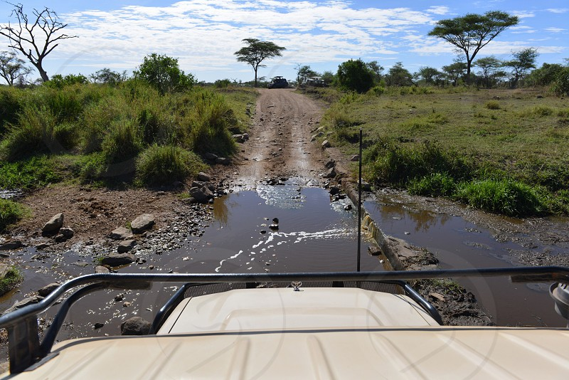 Safari landscape from a jeep point of view... photo