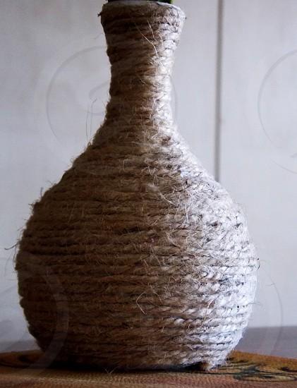 Gray vase rope photo