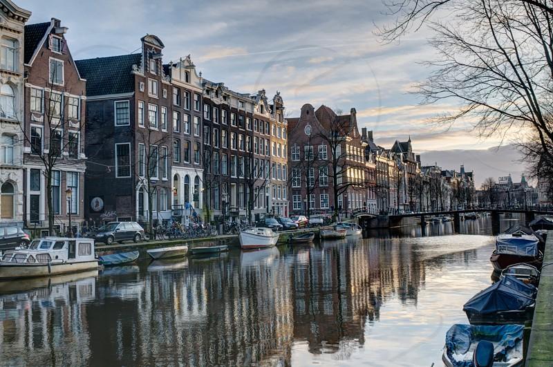 amsterdam city reflection photo
