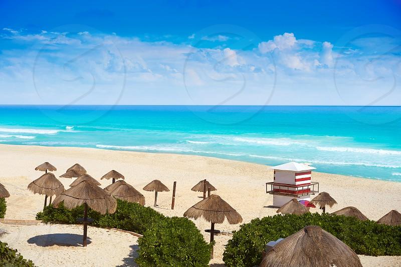 Cancun Playa Delfines beach in Riviera Maya of Mexico photo