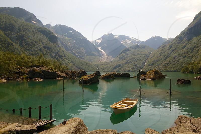 boat on lake photography photo