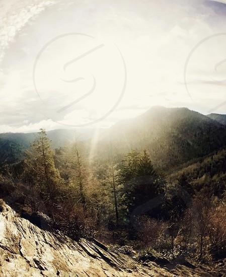 Mountains sunrise photo
