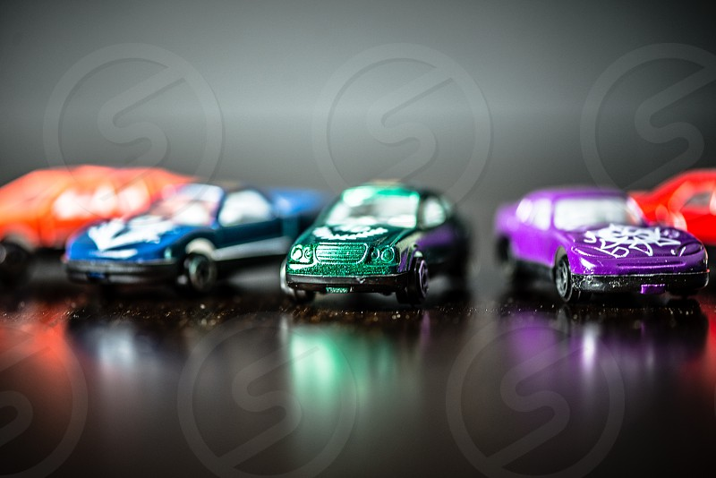 Colorful toy cars photo