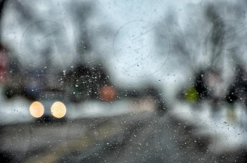Snowy windshield. photo