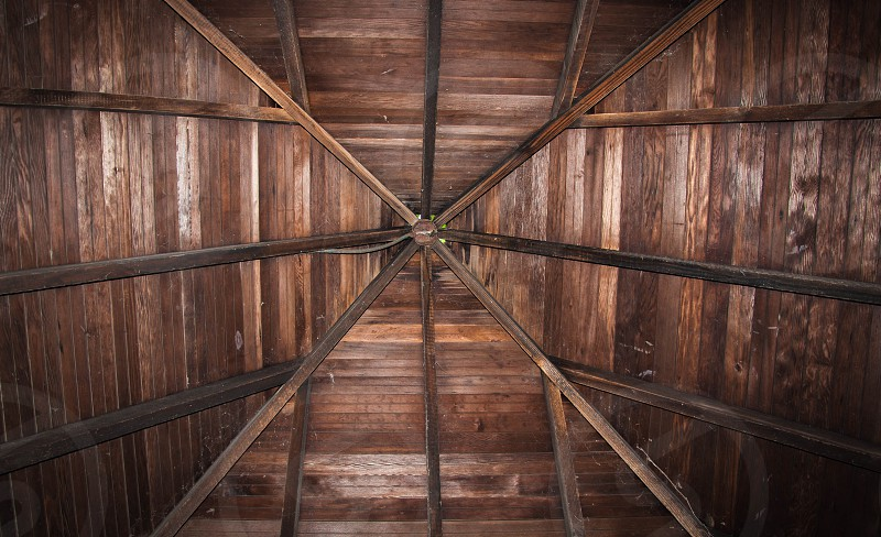 wood roof from the inside photo