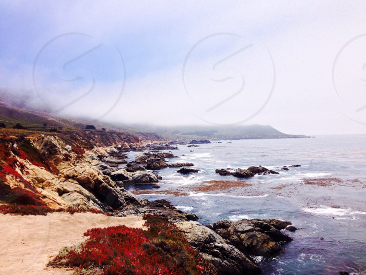 Coast ocean sea California outdoors hike beautiful  photo