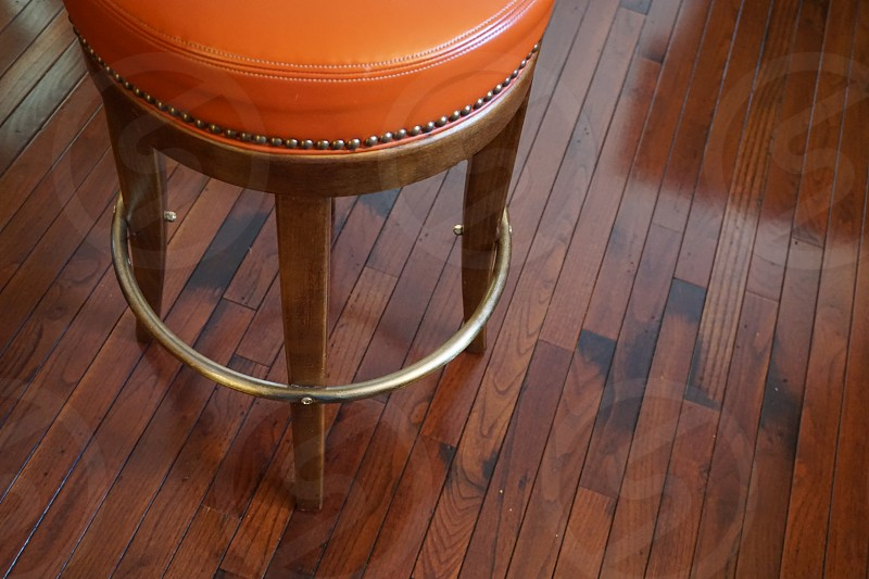 brown wooden bar stool photo