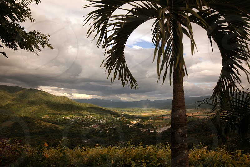 the village of Fang in the north of chiang mai in the north of Thailand in Southeastasia.  photo