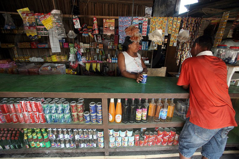 a shop at the village of Betano in the south of East Timor in southeastasia. photo