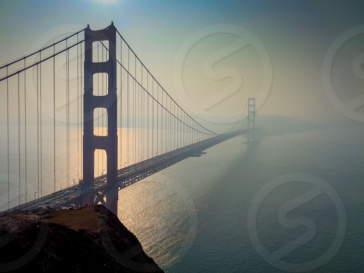 The Golden Gate Bridge during the Camp fire photo