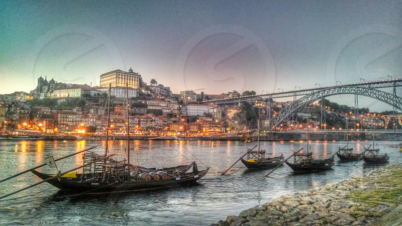A view of Porto Portugal from the other side. photo