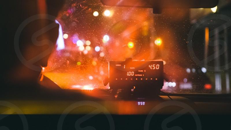 taxi meter set at 4.50 1.00 photo
