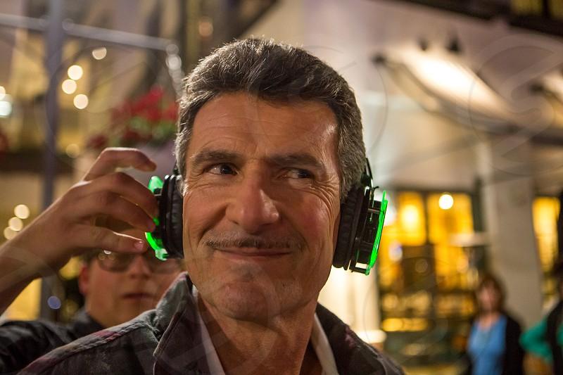 Celebrating Dad's 60th Birthday Silent Disco Headset photo