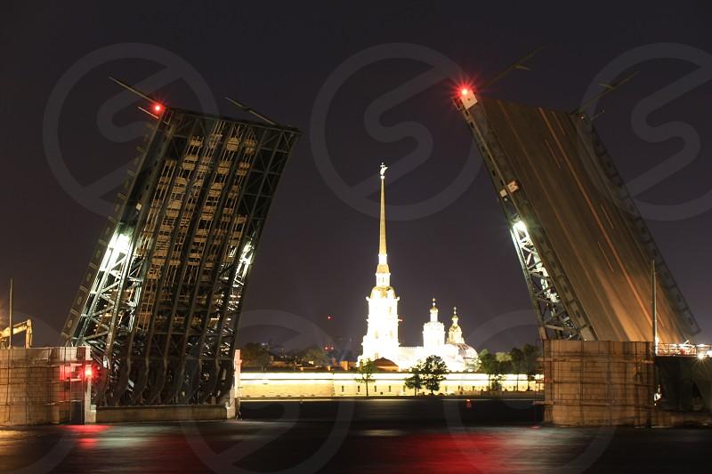Санкт-Петербургдворцовый мост петропавлоская крепостьзаячий остров photo
