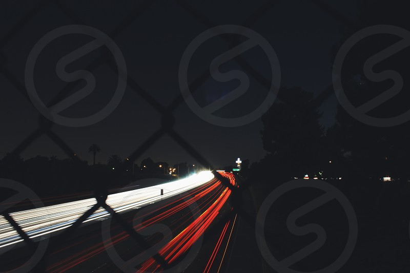 Slow Shutter on Highway photo