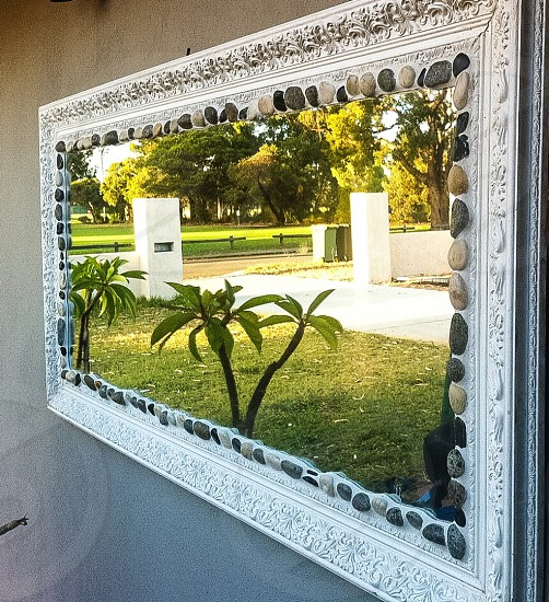 Outside Wall Mirror Art photo
