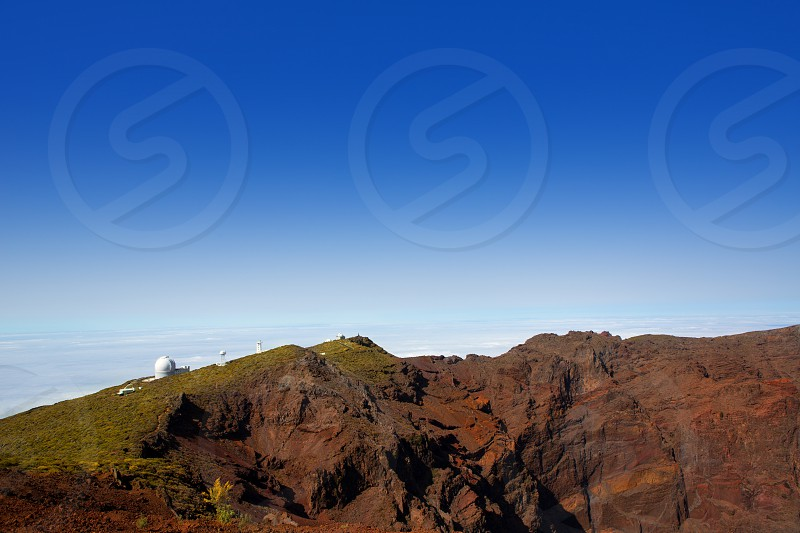 Caldera de Taburiente in Roque Muchachos at La Palma Canary Island photo