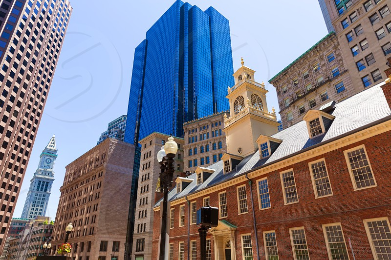 Boston Old State House buiding in Massachusetts USA photo