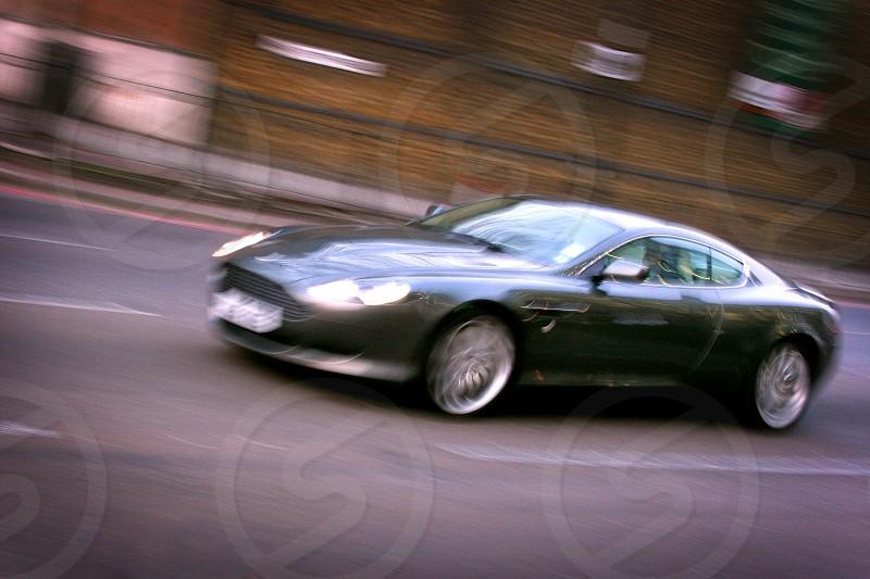 Aston Martin on streets in Britain. photo