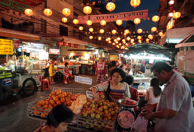 the streetlife in the China town in the city of Bangkok in Thailand in Suedostasien. photo