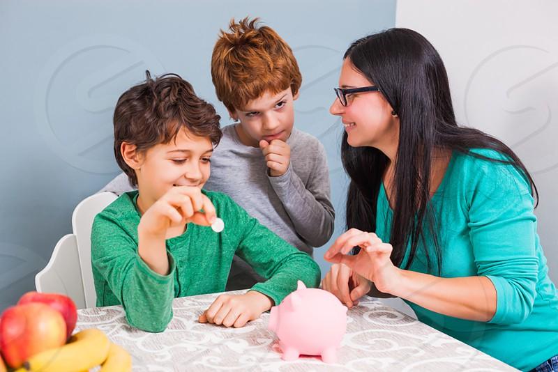 teaching kids about money photo