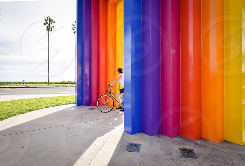 rainbow santa barbara bike photo