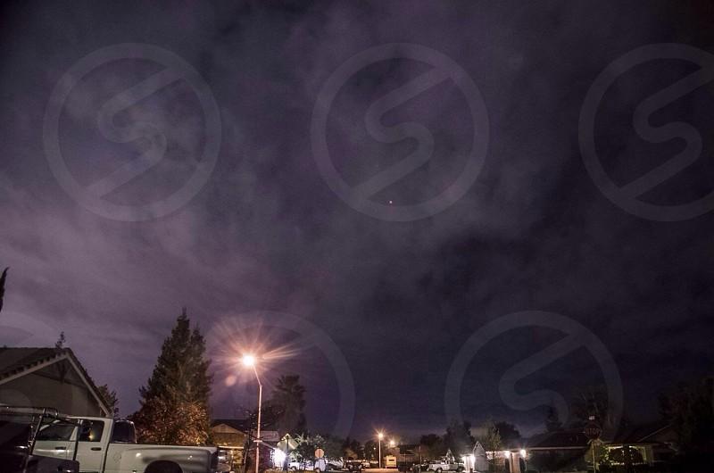 Modesto's night sky.  photo