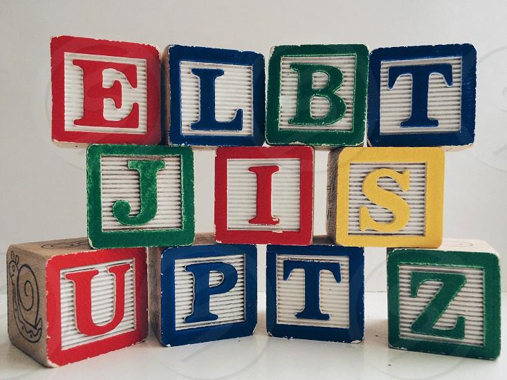 Colorful letter blocks photo