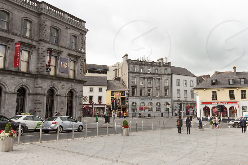 The exterior of the Left Bank pub/restaurant in Kilkenny Ireland.  Interior photos are also available. photo