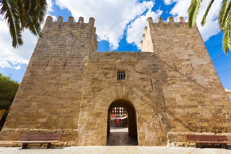Alcudia Old Town in Majorca Porta des Moll Mallorca Balearic island of Spain photo
