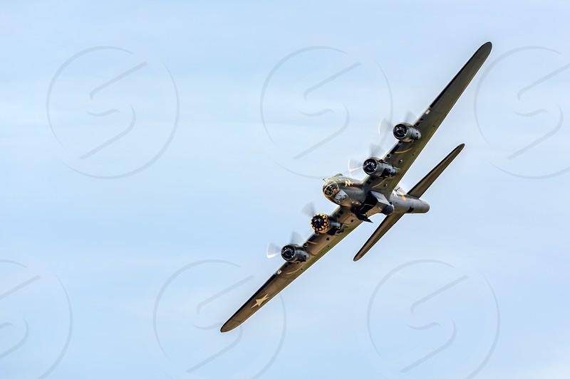 Memphis Belle Boeing B 17 Bomber Flying over Shoreham Airfield photo