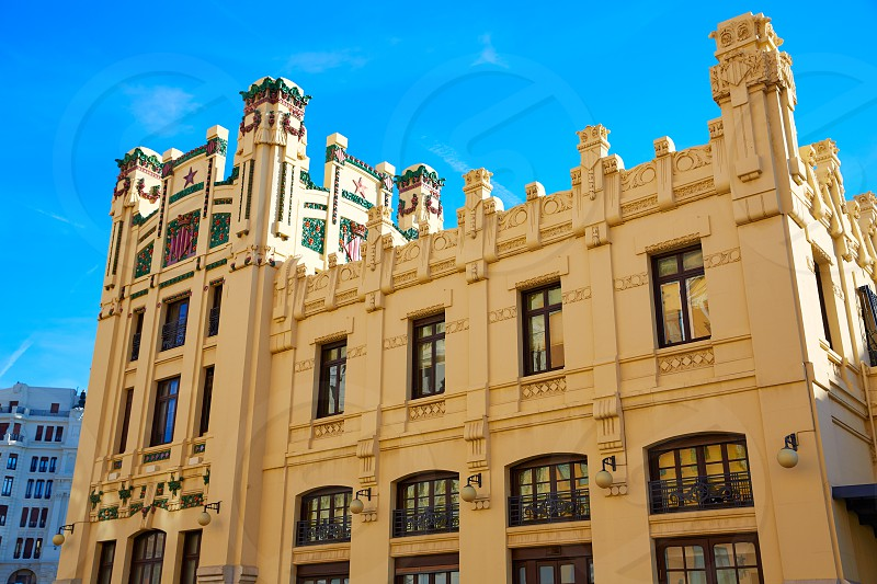 Valencia city railway station from Bailen street in Spain photo