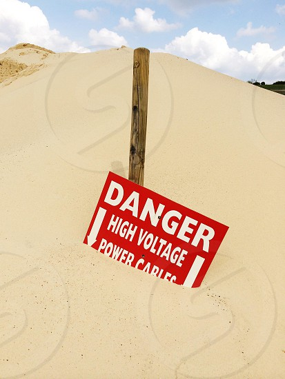danger high voltage power cables photo